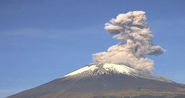 Actividad en el Popocatépetl continúa; ceniza caerá en 10 estados