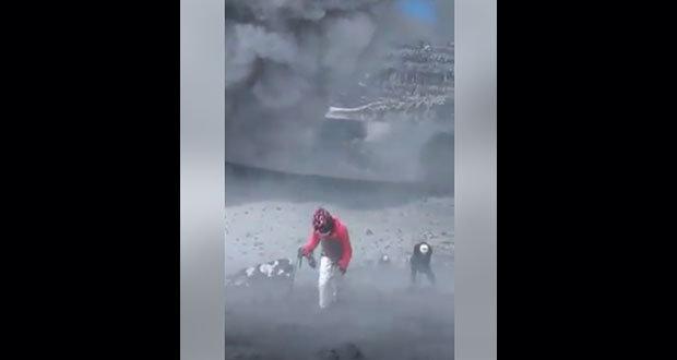 Pese a restricción, vuelven a escalar hasta cráter del Popocatépetl