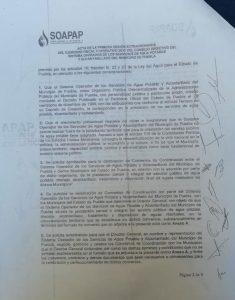 Moya, Cabalán y Eduardo Rivera avalaron concesionar el agua en Puebla