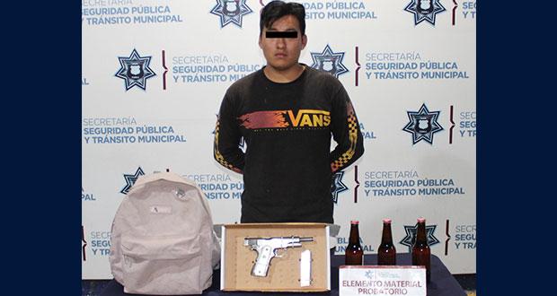 Cae hombre en colonia Tres de Mayo por portación ilegal de arma