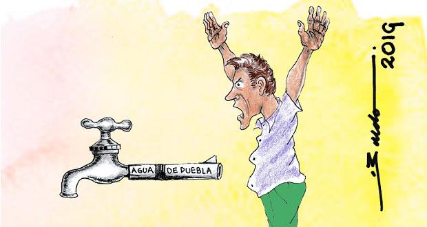 Caricatura: Asalto de Agua de Puebla a usuarios