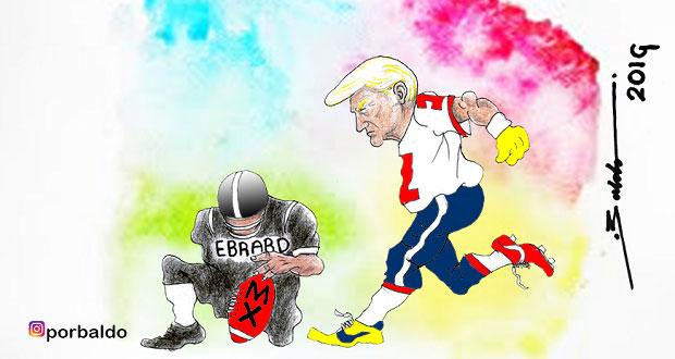 Caricatura: Ebrard le pone México a Trump