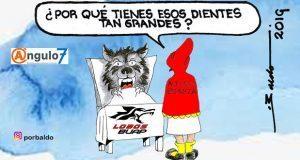 Caricatura: La Caperucita se vuelve lobo