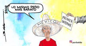 Caricatura: Primer informe de AMLO