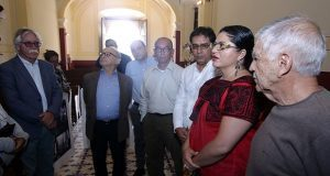 Secretarios de Cultura recorren inmuebles dañados por sismo de 2017