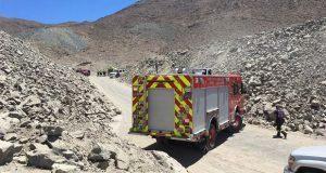 Derrumbe en mina de Chile deja un muerto y cuatro heridos