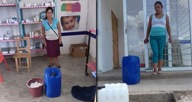 Entregan insumos para limpieza de cajas de agua en Huitzilan