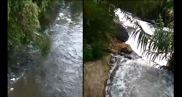 Exhiben contaminación del río Atoyac por plantas de Agua de Puebla