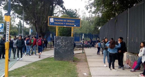 Por visita de Anaya a UNAM, cierran Facultad de Ciencias Políticas