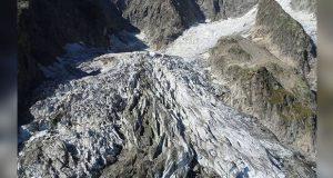 Glaciar del Mont Blanc, se derrite por cambio climático, advierten