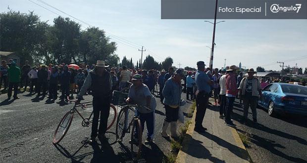 Habitantes de Zacatepec paran ampliación en parque industrial de Huejotzingo