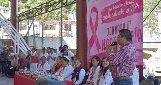 En Huitzilan, Antorcha promueve prevención de cáncer de mama