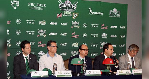 México jugará contra Venezuela en Puebla rumbo a mundial de beisbol
