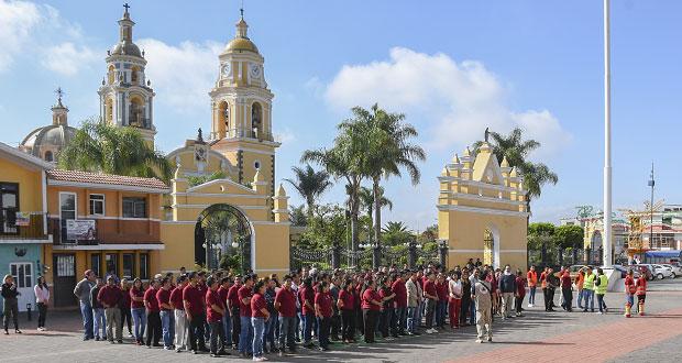Macrosimulacro en Cuautlancingo, con participación de 449 personas