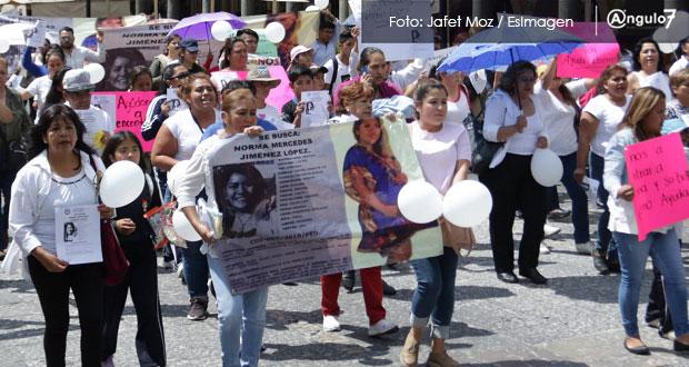 Marchan para exigir localizar a Norma Jiménez, de 8 meses de embarazo