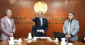 Marcos Rodríguez toma protesta como vocal ejecutivo del INE Puebla