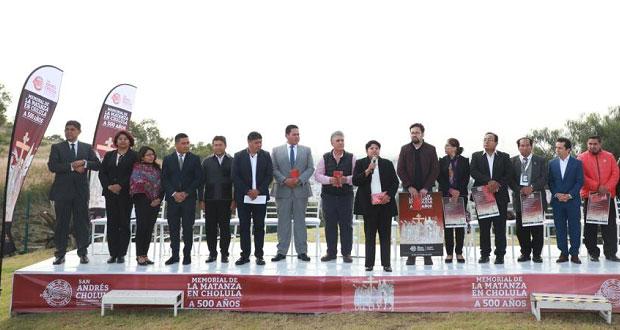 "Presentan cartel del ""Memorial de la Matanza en Cholula"""