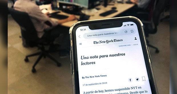 New York Times cierra versión en español por no generar ganancias