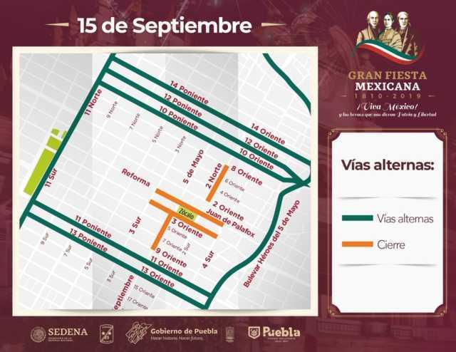 Por festejos patrios, desplegarán 1,500 policías en capital de Puebla