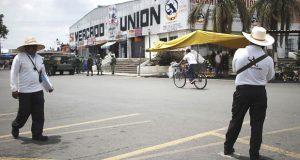 Avanza sector de policía municipal en Mercado Unión: Segom