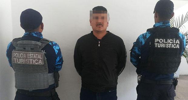 Policía Turística frustra la fuga de ladrón en Línea 3 de RUTA