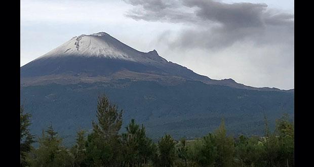 Popocatépetl, dentro de alerta amarilla 2; registra 231 exhalaciones