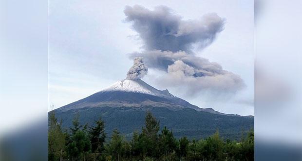 Popocatépetl, con actividad estable; registra 186 exhalaciones