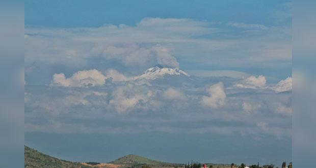 Presenta Popocatépetl actividad moderada en últimas horas