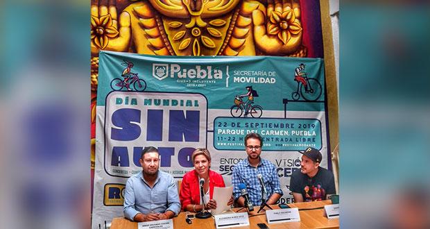 Puebla celebrará el Día Mundial sin Auto con rodada y música