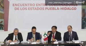 Puebla e Hidalgo buscarán zona metropolitana y van por convenio de seguridad