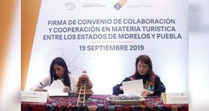 Puebla y Morelos acuerdan fortalecer turismo en ambas entidades