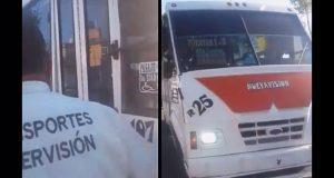Realizan operativos para evitar que transporte público cobre más