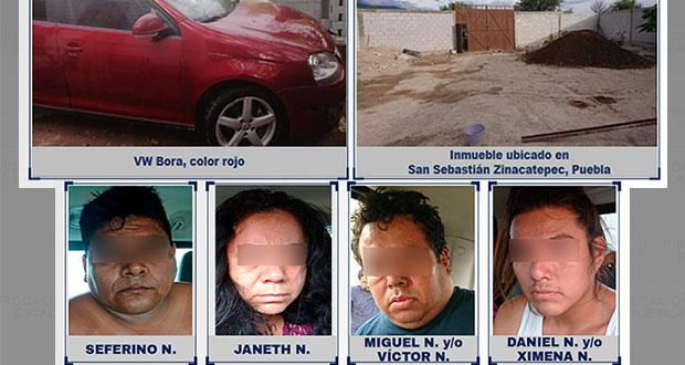 Rescatan en Zinacatepec a varón y detienen a cuatro secuestradores