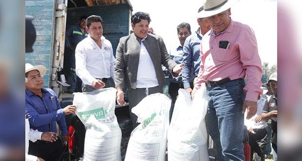 San Andrés apoya con fertilizante a 260 campesinos; invierte 969 mp