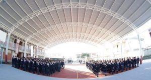 San Andrés entrega domo en prepa de Tonantzintla; invierte 1 mdp