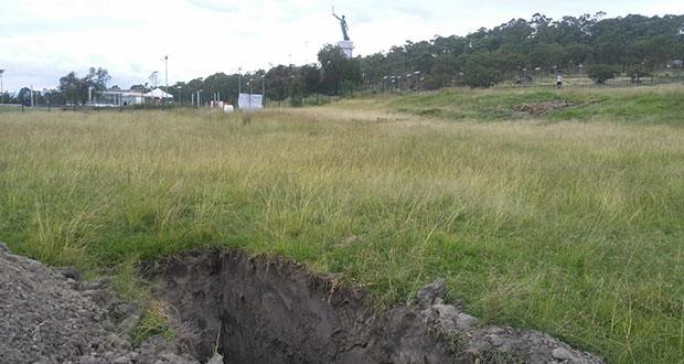 Se oponen a levantar clausura de obras en Amalucan por ser área protegida