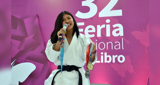 Ganadora de oro en Panamericano, comparte experiencias en el Fenali