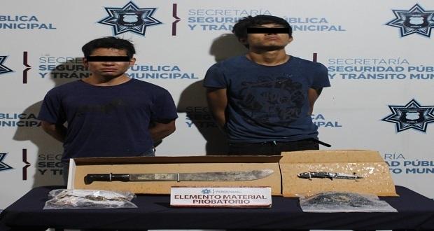 Dos son detenidos por robar a comensales de restaurante Los Manteles