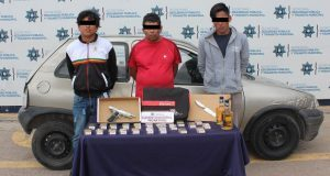 Detienen presunta banda dedicada al robo de autopartes en Puebla