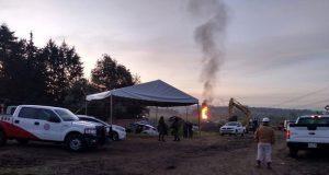 Con desfogues, buscan controlar fuga de gas en Cuautlancingo