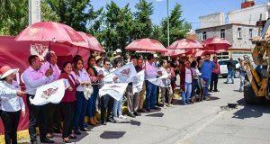 Comuna de Cuautlancingo invierte 4 mdp para rehabilitar 4 calles