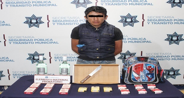 Ssptm detiene en la colonia SNTE a presunto asaltante de tienda Oxxo