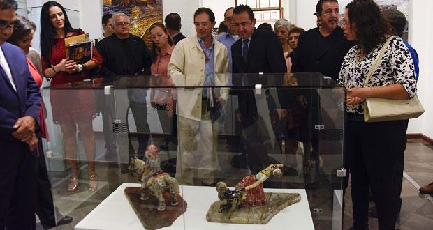 En Casa de los Muñecos, exponen 40 piezas de artista poblano