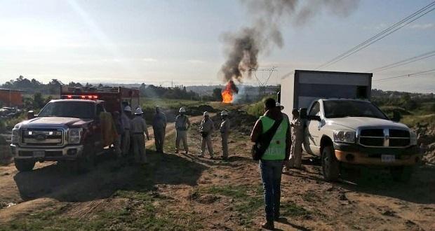 Autoridades atienden fuga de gas LP en Cuautlancingo; hay 6 heridos