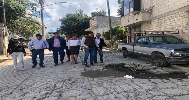 Juntas auxiliares piden a Infraestructura estatal pavimentar calles