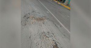 Denuncian mal estado de calles en colonia la Patria Nueva