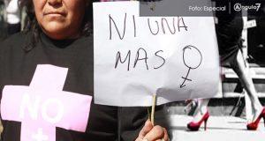 De enero a agosto, tasa de feminicidios en Puebla es la 10ª mayor del país