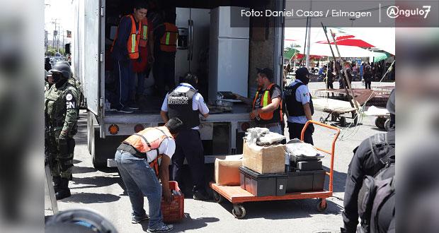 Por tercera vez, montan operativo en Mercado Unión; aseguran mercancía ilícita