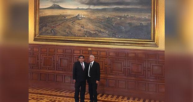 Barbosa y AMLO dialogan sobre desarrollo de Puebla en Palacio Nacional