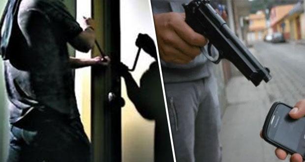 Suben en Puebla robos a vivienda, negocio y transeúnte